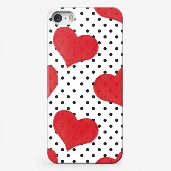 Чехол iPhone «Red Hearts»