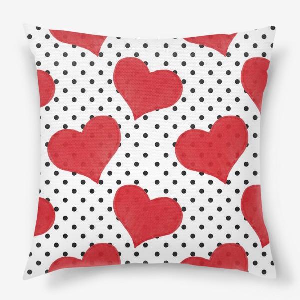 Подушка «Red Hearts»