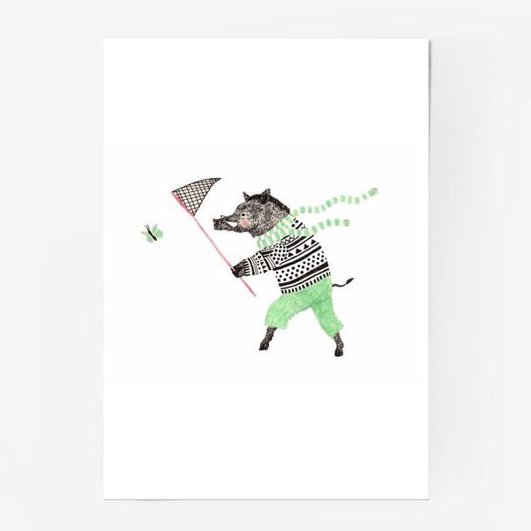 Постер «Кабан и бабочка»