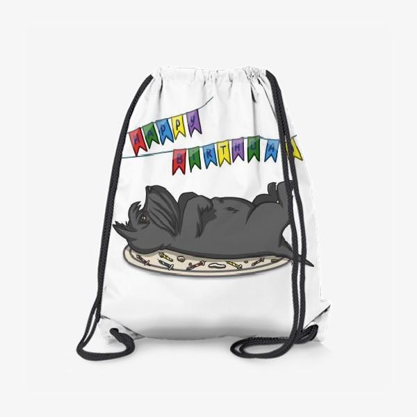 Рюкзак «С Днем рождения. Торт и шотландский скотч терьер»