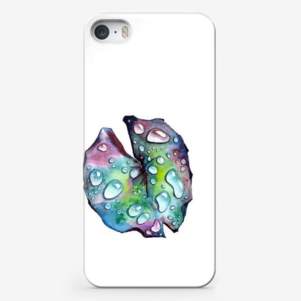 Чехол iPhone «Флора 2.0. Лист лотоса»