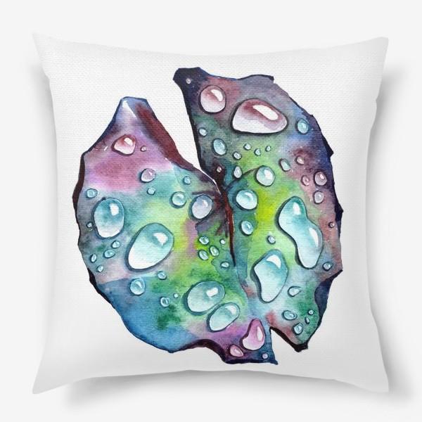 Подушка «Флора 2.0. Лист лотоса»