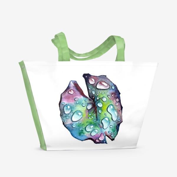 Пляжная сумка «Флора 2.0. Лист лотоса»