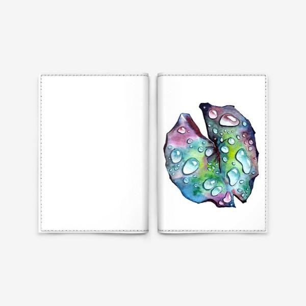 Обложка для паспорта «Флора 2.0. Лист лотоса»