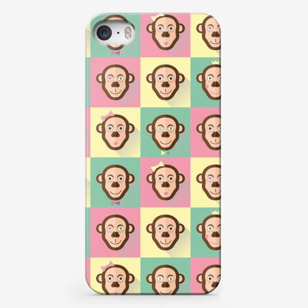 Чехол iPhone «Паттерн обезьяны»
