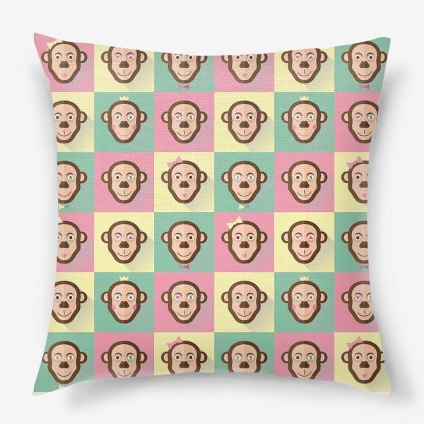 Подушка «Паттерн обезьяны»
