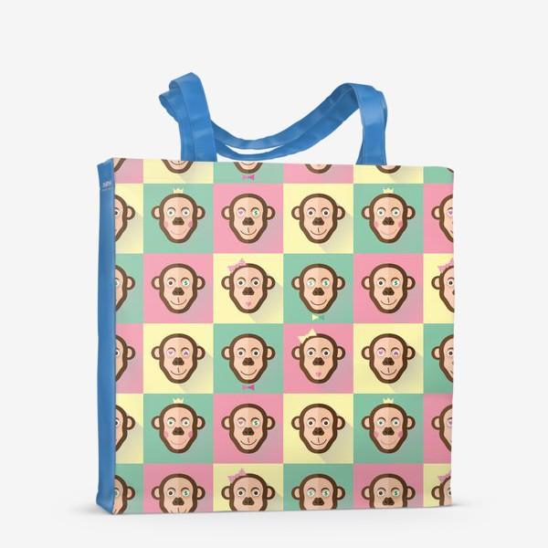 Сумка-шоппер «Паттерн обезьяны»