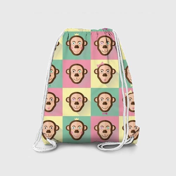Рюкзак «Паттерн обезьяны»
