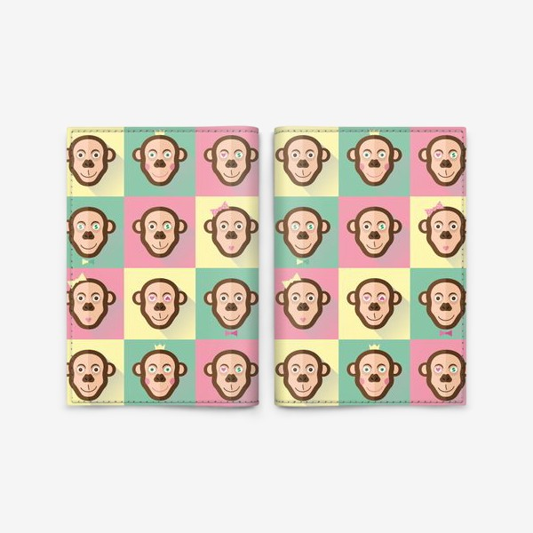 Обложка для паспорта «Паттерн обезьяны»