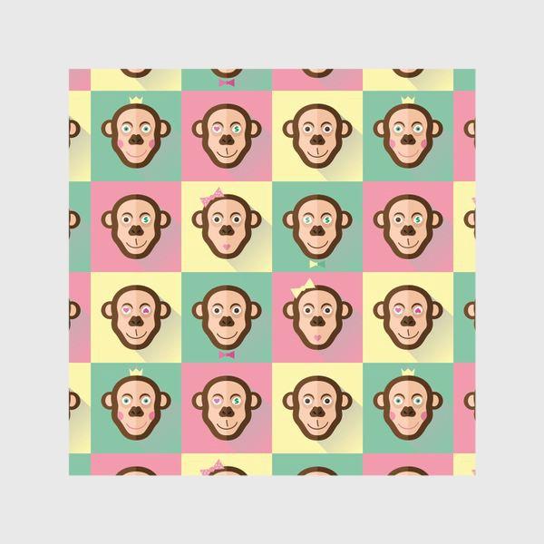 Шторы «Паттерн обезьяны»