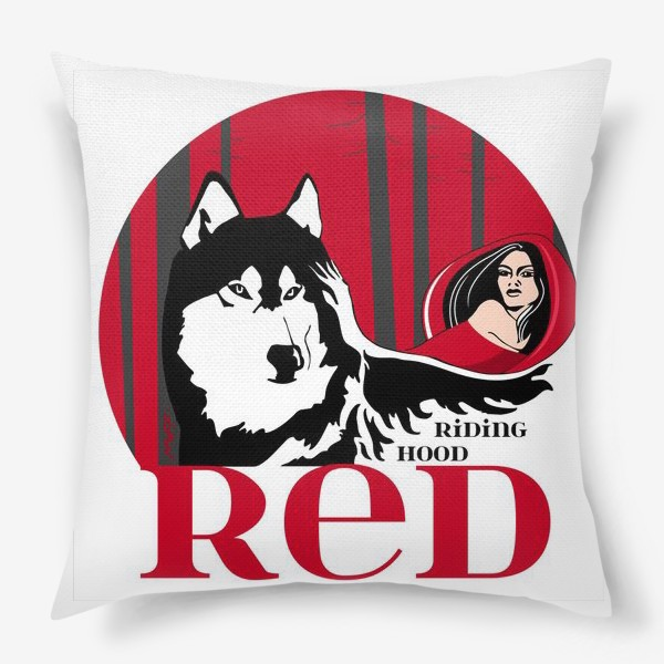 Подушка «Волк и Красная шапочка»