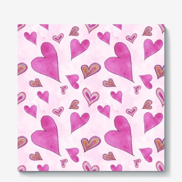 Холст «Hearts Pink»