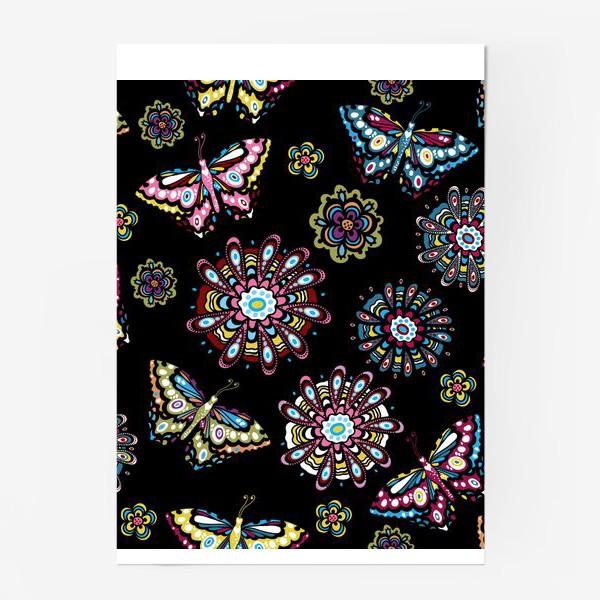 Постер «Бабочки в саду»