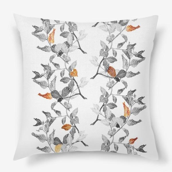 Подушка «Осенние листья винтаж»