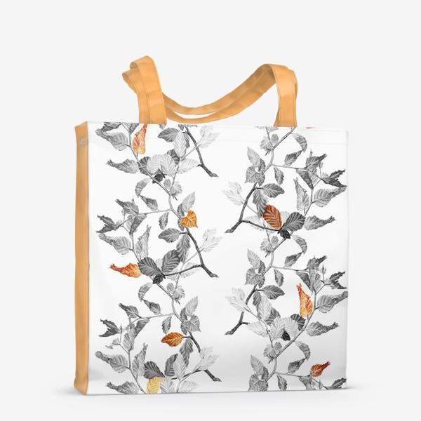 Сумка-шоппер «Осенние листья винтаж»