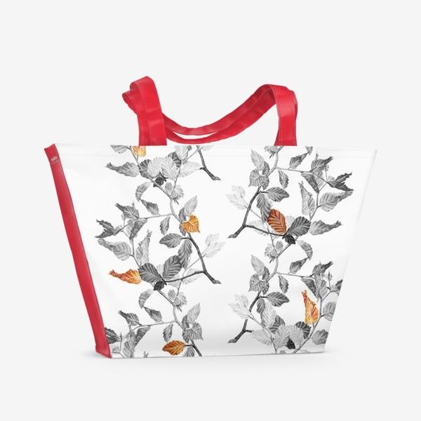 Пляжная сумка «Осенние листья винтаж»
