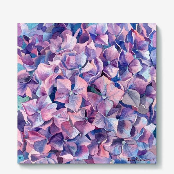 Холст «Фиолетовая гортензия»