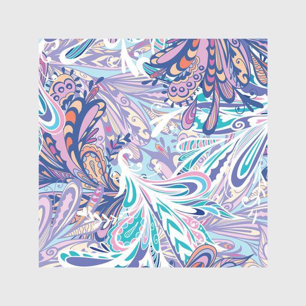 Шторы «Абстрактные узоры в синей гамме»