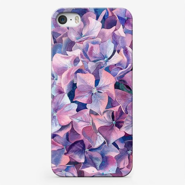 Чехол iPhone «Фиолетовая гортензия»