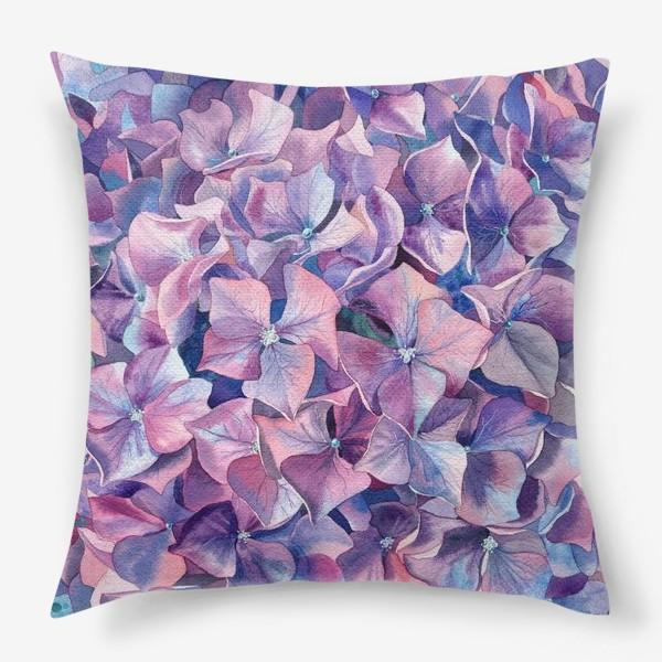 Подушка «Фиолетовая гортензия»