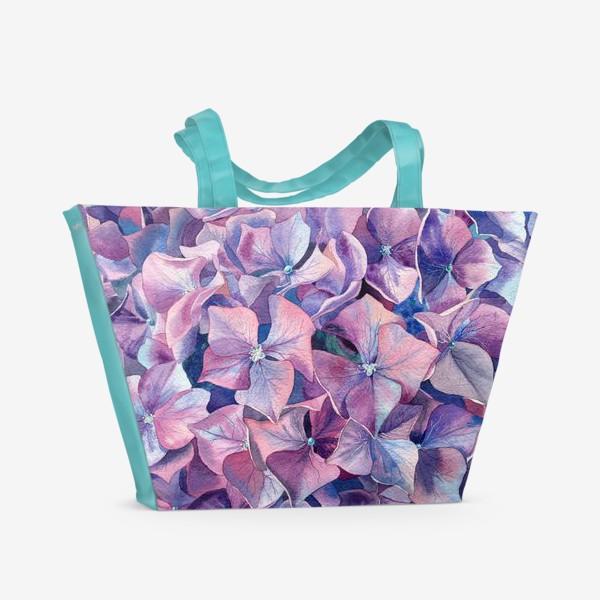 Пляжная сумка «Фиолетовая гортензия»