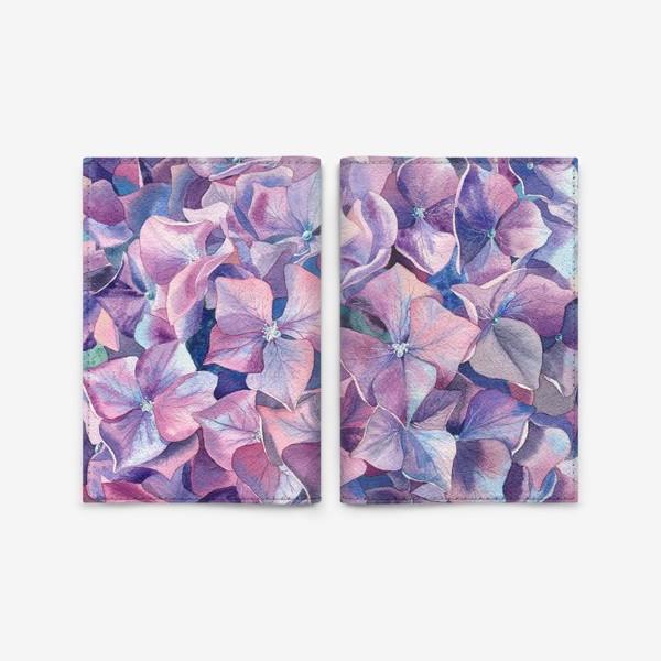 Обложка для паспорта «Фиолетовая гортензия»