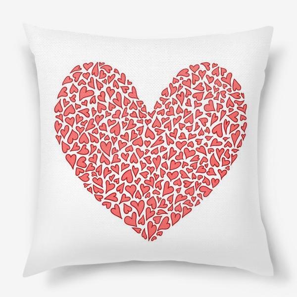Подушка «Большая любовь кроется в мелочах»