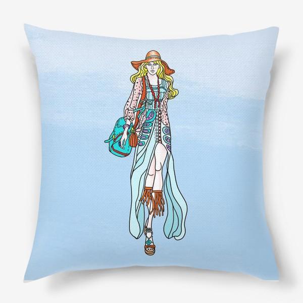 Подушка «Hippie-coloring»