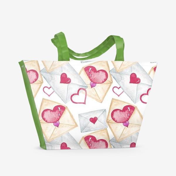 Пляжная сумка «Конверт с сердцем»