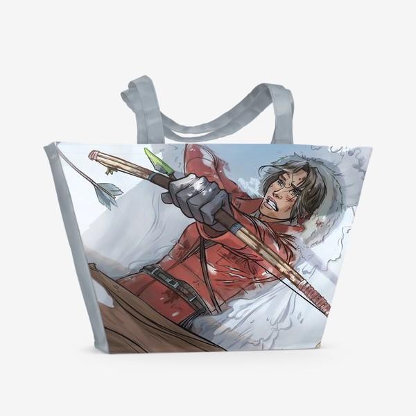 Пляжная сумка «Лара Крофт. Исследуй пределы возможного (Lara Croft. Rise of the Tomb Raider)»