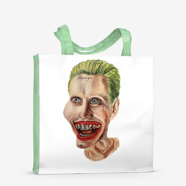 Сумка-шоппер «Карикатура. Джокер. Шарж на актера, портрет, Jared Leto»