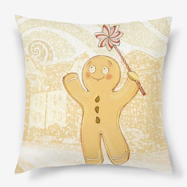 Подушка «Пряник и Снежок»