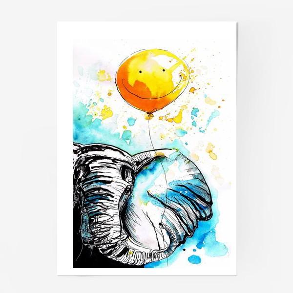 Постер «Слон приносящий счастье»