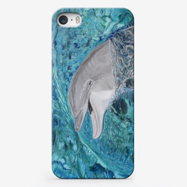 Чехол iPhone «дельфин»