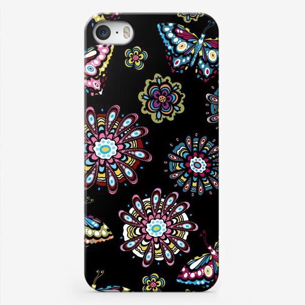 Чехол iPhone «Бабочки в саду»
