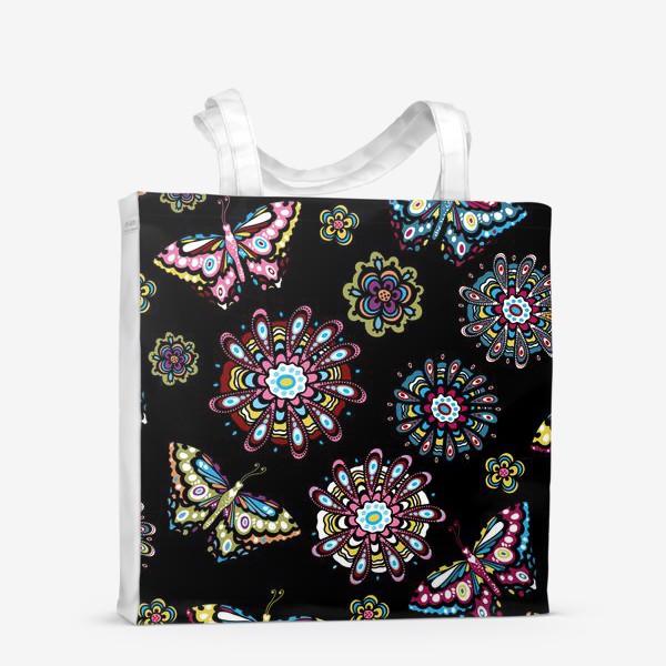 Сумка-шоппер «Бабочки в саду»