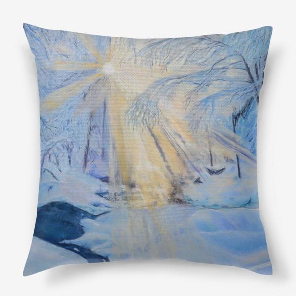 Подушка «зимний пейзаж»
