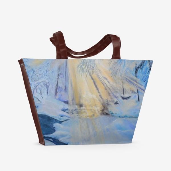Пляжная сумка «зимний пейзаж»