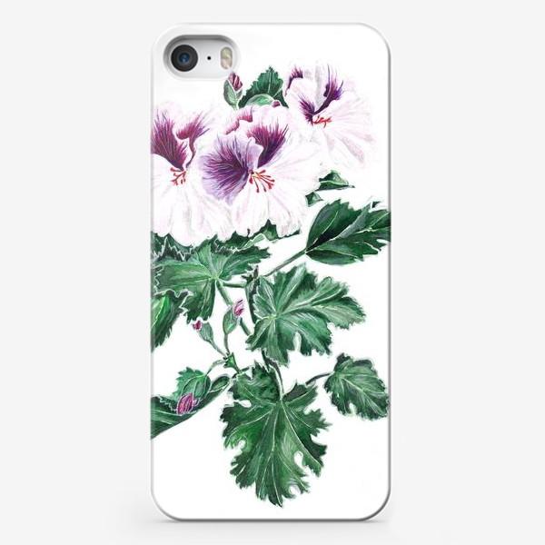 Чехол iPhone «Королевская герань»
