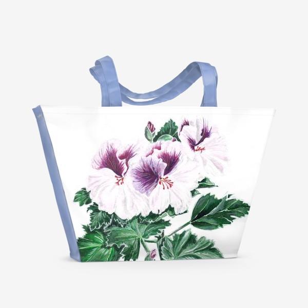 Пляжная сумка «Королевская герань»