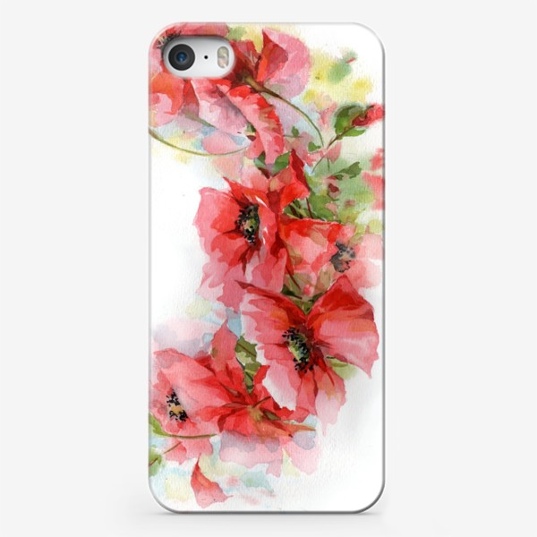 Чехол iPhone «Маковый венок»