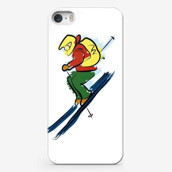 Чехол iPhone «Горный лыжник»