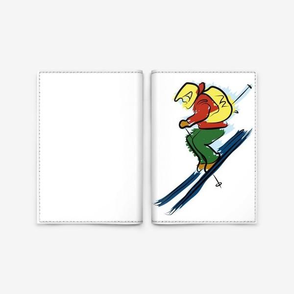 Обложка для паспорта «Горный лыжник»