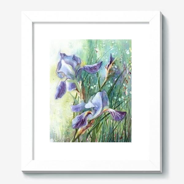 Картина «Ирисы голубые»