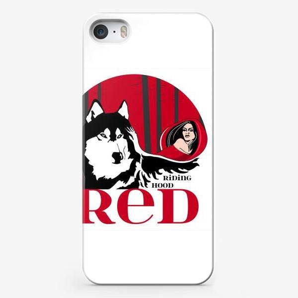 Чехол iPhone «Волк и Красная шапочка»