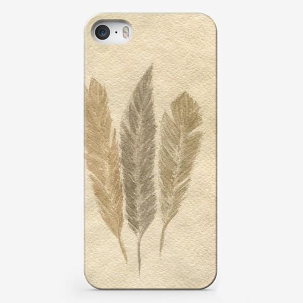 Чехол iPhone « Кофейные перья »
