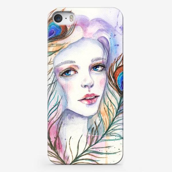 Чехол iPhone «Девушка-павлин»