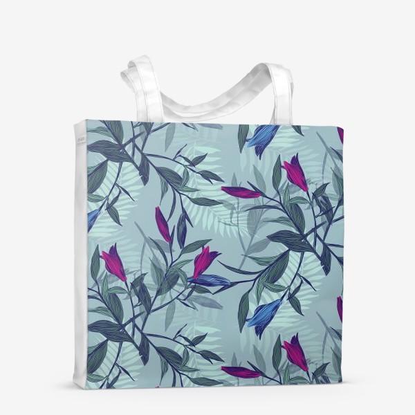 Сумка-шоппер «лилии»