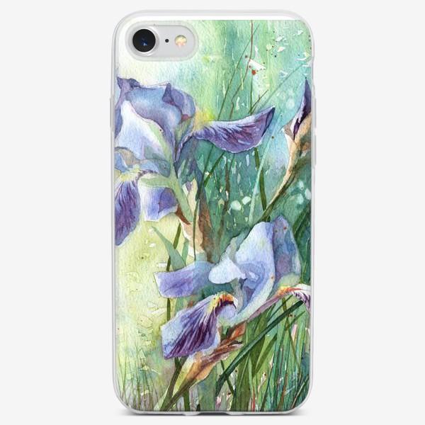 Чехол iPhone «Ирисы голубые»