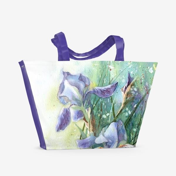 Пляжная сумка «Ирисы голубые»